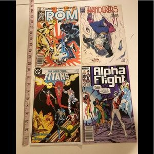 Vintage Comics lot of 4- Marvel and DC collectible